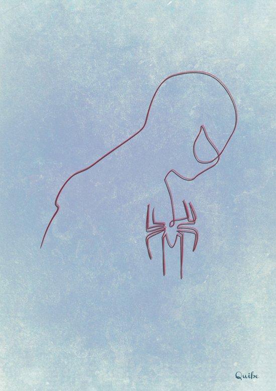 One line Spider Man Canvas Print