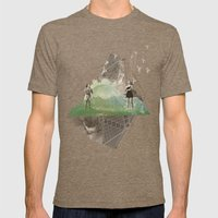 BIRDS Mens Fitted Tee Tri-Coffee SMALL