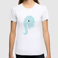 Elephant Squid Womens Fitted Tee Ash Grey SMALL