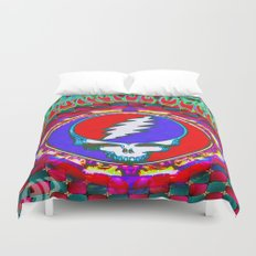 Grateful Dead #10 Optical Illusion Psychedelic Design Duvet Cover