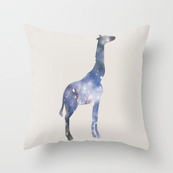 Sky-Giraffe  Throw Pillow