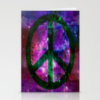 Peace Symbol And Infused… Stationery Cards