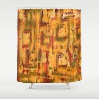 Orange landscape Shower Curtain