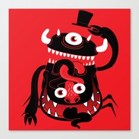 Mister Monster Canvas Print