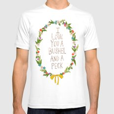 I love you and bushel and a peck White Mens Fitted Tee SMALL
