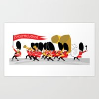 Play that funky music soldier boys! Art Print