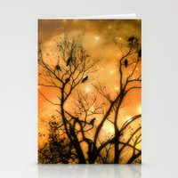 Stationery Card featuring Sparks by The Strange Days Of Gothicolors