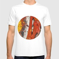 printable circle Mens Fitted Tee White SMALL