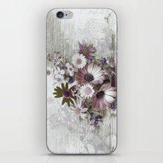 Daisies on Worn Wood iPhone & iPod Skin