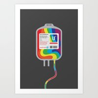 Fairytale Transfusion Art Print