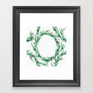 Gumleaf Tangle In Mint A… Framed Art Print