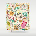 Seaside Cycle Shower Curtain