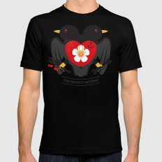 Doublebreasted Appleblossom Black SMALL Mens Fitted Tee