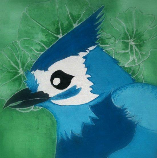 Titmouse in Blue Art Print