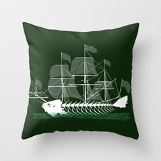 Cutter Fish Throw Pillow