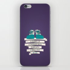 a journey of a thousand miles begins with a single step iPhone & iPod Skin