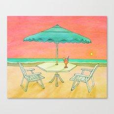 Beach Drink Canvas Print