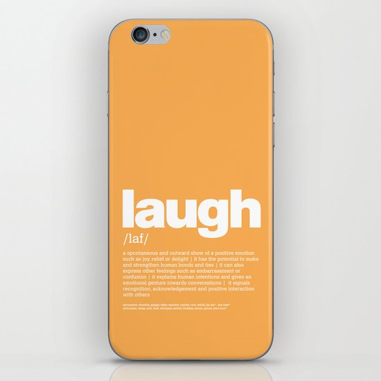 definition LLL - Laugh iPhone & iPod Skin