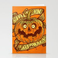 Halloween orange Stationery Cards