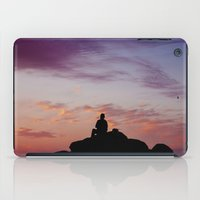 Man Enjoying Sunset II iPad Case