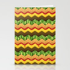 Cheeseburger Chevron Stationery Cards