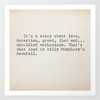 It's A Story About... Art Print