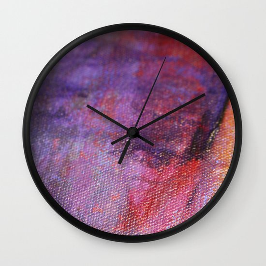 Red Vastness Wall Clock