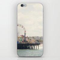 Santa Monica Pier. Happy Birthday Pacific Park!  iPhone & iPod Skin