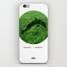 Hipster Dolphin. iPhone & iPod Skin