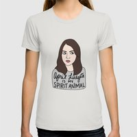 April Ludgate Is My Spir… Womens Fitted Tee Silver SMALL