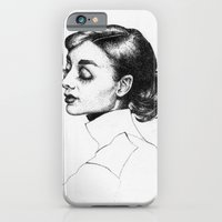 iPhone & iPod Case featuring Audrey Hepburn by Anna Tromop Illustration