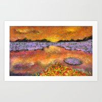 Orange Twilight Art Print