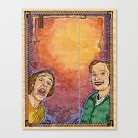 Us And Them (aka. Lovers) Canvas Print