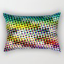 Halftone Color Chart Rectangular Pillow