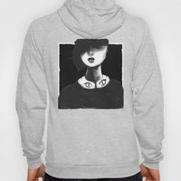 Contemporary Black And W… Hoody
