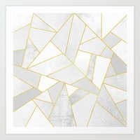 snow Art Prints featuring White Stone by Elisabeth Fredriksson