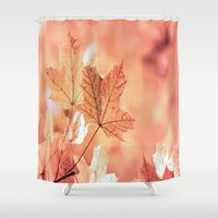 Acer Leaves In Fall Shower Curtain