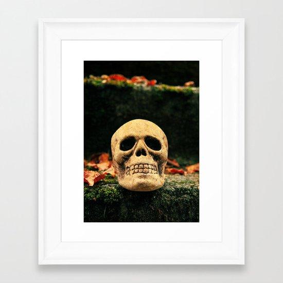 Stairway skull Framed Art Print