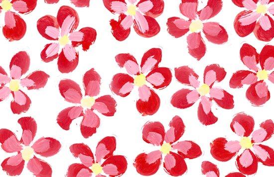 Posey Power - Red Multi Art Print