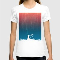 rain T-shirts featuring Meteor Rain (light version) by Picomodi