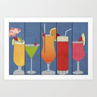 Fruit Drinks Art Print