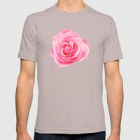 Pink Rose Swirl Petals Mens Fitted Tee Cinder SMALL