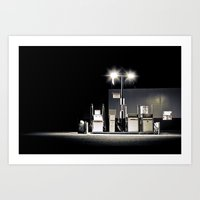 gas station Art Print