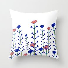 Flowers - floral - flowers - pattern  Throw Pillow