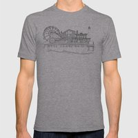 The Jersey Shore by the Downtown Doodler Mens Fitted Tee Athletic Grey SMALL
