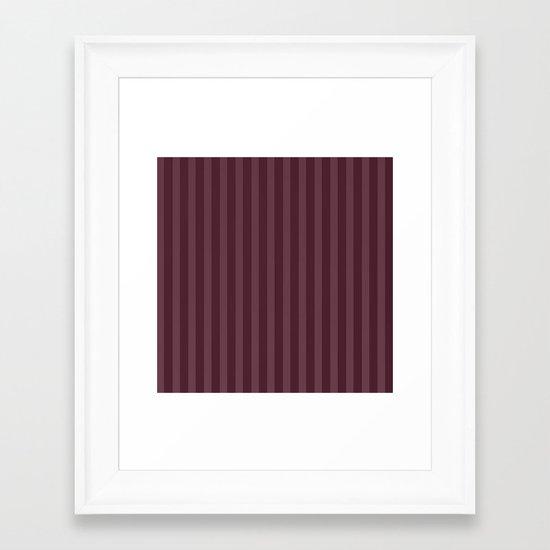 Vertical Stripes Framed Art Print