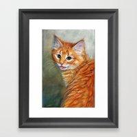 Ginger Kitten 1 Framed Art Print
