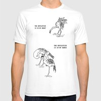 Revolutionary Flamingos Mens Fitted Tee White SMALL