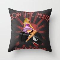 Princess Peach Pin Up Throw Pillow