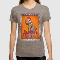 Alfred's sign Womens Fitted Tee Tri-Coffee SMALL